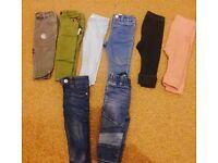 Zara, river island, mamas & papas , gap jeans and leggings