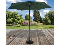 2.7M Parasol Outdoor Garden Patio Sunshade Crank Handle Aluminium Round Umbrella NEW BOXED