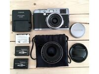Fujifilm X100T incl. TCL-X100 Conversion Lens and 3 batteries