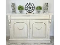 Beautiful white hand painted French inspired sideboard cupboard