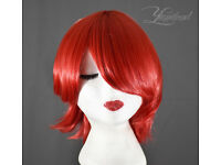 Short red wig, high quality synthetic hair