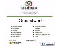 Groundworks / Paving / Drainage / Earth Moving / Excavation Services