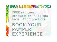 Tropic skincare Free pamper Spa sample