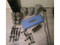 Weights, weight bars, push up bars £70 ono