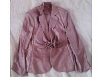 Gina Bacconi Ladies Mink 3 Piece Skirt Suit Size 18