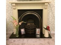 Cast Iron Fireplace & Grate, with working gas fire **Excellent Condition**