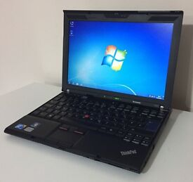 "12.1"" Lenovo X201 Intel Core i5-M520 6GB RAM 250HDD, Extended 9 Cell New Battery, WiFi, WebCam"