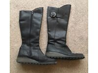 Fly London Black leather boots