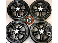 18 Genuine Audi alloys refurbished gloss black/red, Michelin tyres.