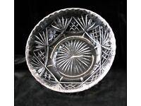 Hand Cut Lead Crystal Fruit Bowl