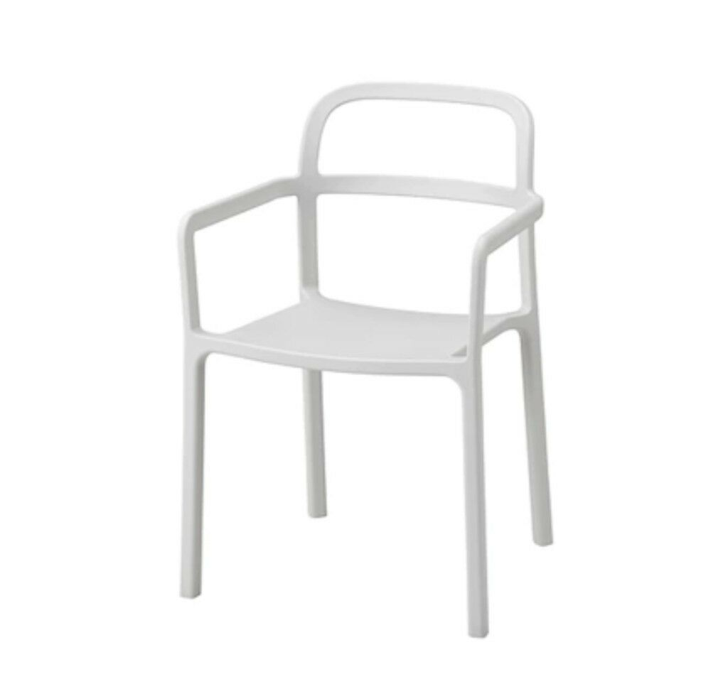 IKEA Chair with armrests, inoutdoor, Light grey, YPPERLIG | in Camden Town, London | Gumtree