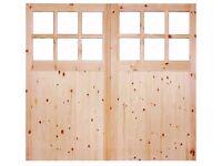 Brand new wooden garage doors