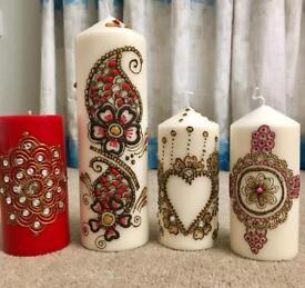 Handmade heena candles