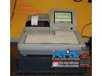 Refurbished Till System Uniwell SX8500 SX-7000 Chip Shop Fast Food Hospitality Pub Bar Cash Register