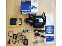 SONY HDR-SR12E HD HardDisk Drive Handycam® camcorder FULL BOX SET (FREE Original Sony Camcorder Bag)