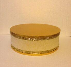 Gold Cake Stand Podium / wedding christening anniversary birthday retirement christmas party etc
