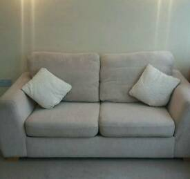 Cream Two Seater Sofa Bed