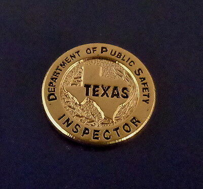 Texas Dept of Public Safety INSPECTOR mini badge lapel pin TX highway patrol