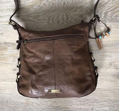 Hide Design Hand Bag Brown Medium Cross Body