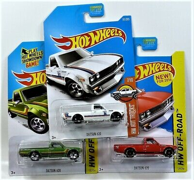 HOT WHEELS 3 DATSUN 620 VARIATIONS 2014 OFF ROAD & 15 OFF ROAD NEW FOR 2014 1/64