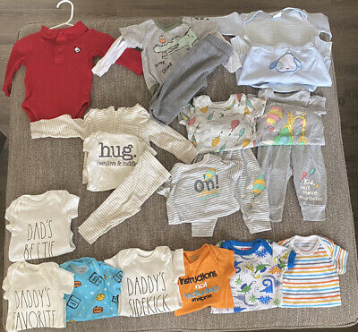 0-3 months baby boy clothes. LOT.
