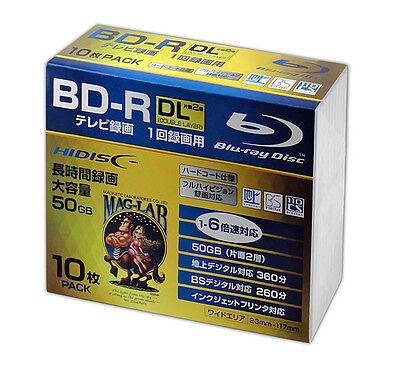 Hi-Disc Blu-ray BD-R DL 50GB 6x Pro No Logo Inkjet Printable Bluray TDK