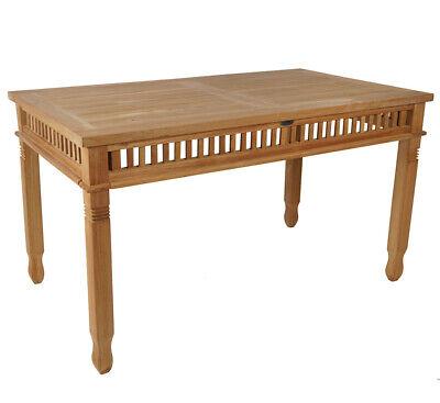 KMH® Teak Gartentisch 140x80 cm Esstisch Teaktisch Holztisch Tisch Holz colonial