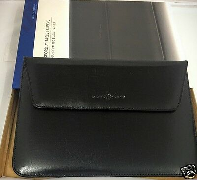 """NEW ACME JOSEPH ABBOUD OXFORD 7"""" TABLET SLEEVE HANDCRAFTED BLACK GENUINE LEATHER"""