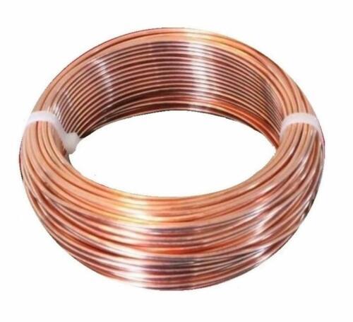 10 Ga. Bare Copper Round Wire 99.9% Pure Solid Copper( Dead Soft ) 5 To 100 Ft.