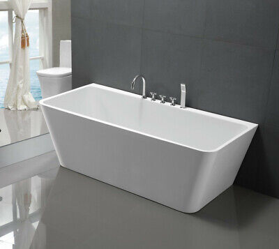 "Empava 67"" Freestanding Bathtub Acrylic SPA Stand Alone Tub 56 Gallons FT1516"