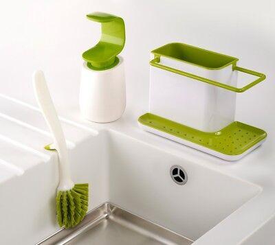 Joseph Joseph 3 Piece Kitchen Sink Set Green