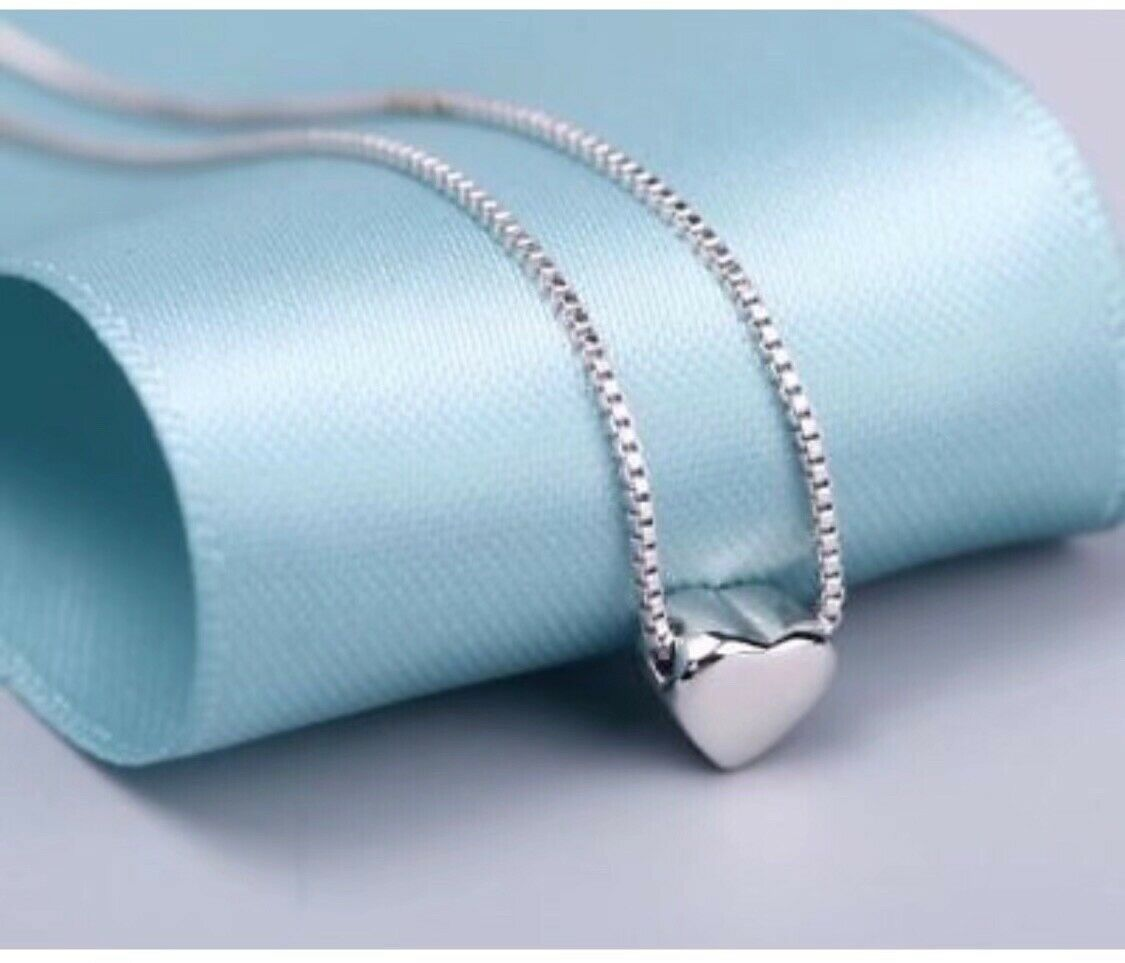 Jewellery - 925 sterling silver heart pendant necklace women jewellery love gift