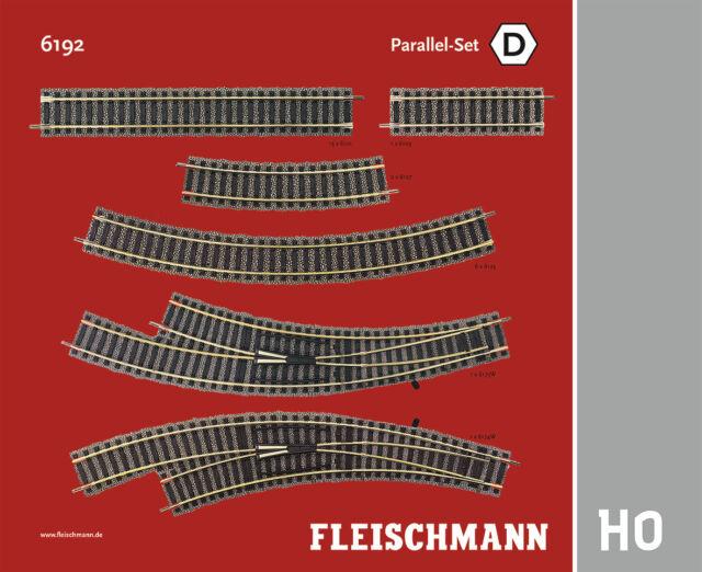 """Fleischmann H0 6192 Profi-Gleis """"Parallel-Set D"""" - NEU + OVP"""