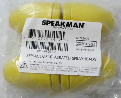 4-PACK SPEAKMAN RPG38-0379 REPLACEMENT AERATED SPRAY HEADS FOR EYEWASH STATION