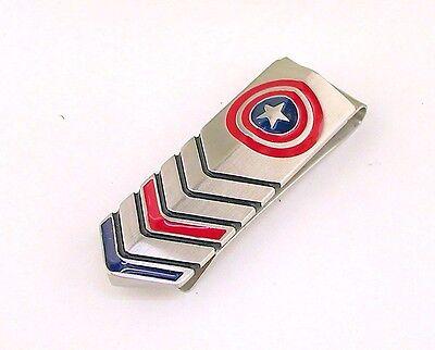 Licensed Marvel Comics Captain America Mens Stainless Steel Money Clip