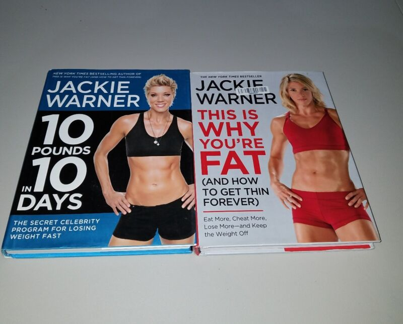 Jackie Warner 2 book lot: 10 pounds in 10 days and This is Why you