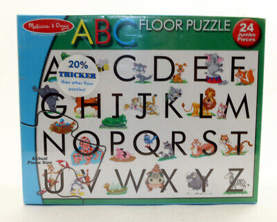 Melissa & Doug #441 ABC Animal Alphabet Floor Puzzle 2x3 Feet 24 Jumbo pieces