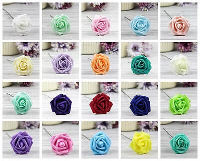 Foam Flowers (Colourfast Foam Roses Artificial Fake Flowers Party Wedding Craft Bridal)