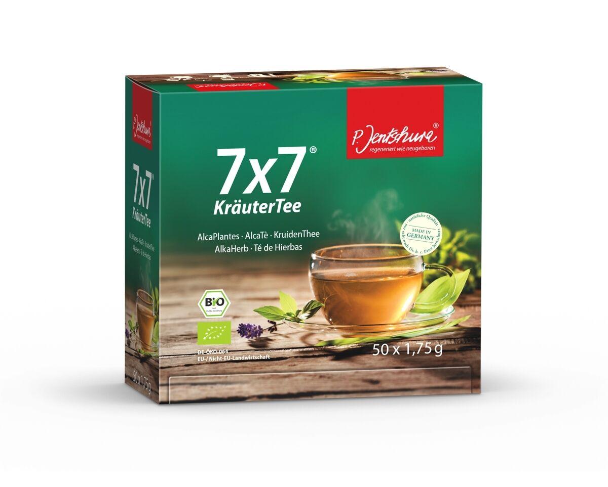 Jentschura 7x7 KräuterTee BIO 50 Beutel á 1,75g (14,80 EUR/100g)+ wählbare Probe