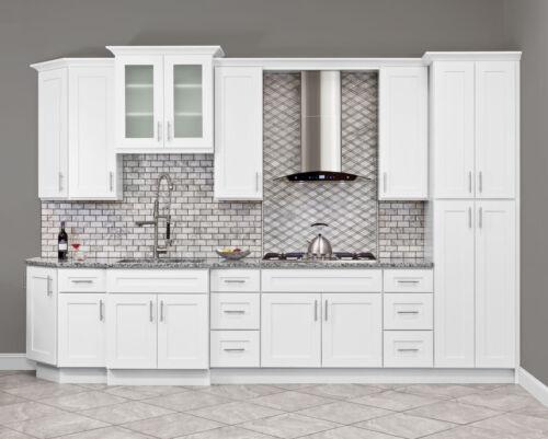 10x10 All Solid Wood KITCHEN CABINETS ALPINA WHITE RTA NEW