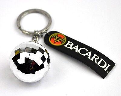 Cool BACARDI RUM Disco Ball Keyring Key Chain Disco - Disco Ball Key Chain