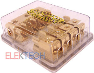 Sound-Quest-by-Stinger-DFP411-AGU-Fused-Distribution-Block-3-in-4-out-24kt-Plate