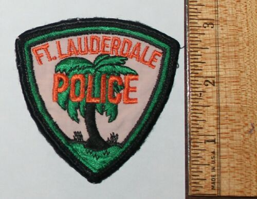 Old FORT LAUDERDALE POLICE Florida FL Fla PD Used Worn Vintage Small patch #2