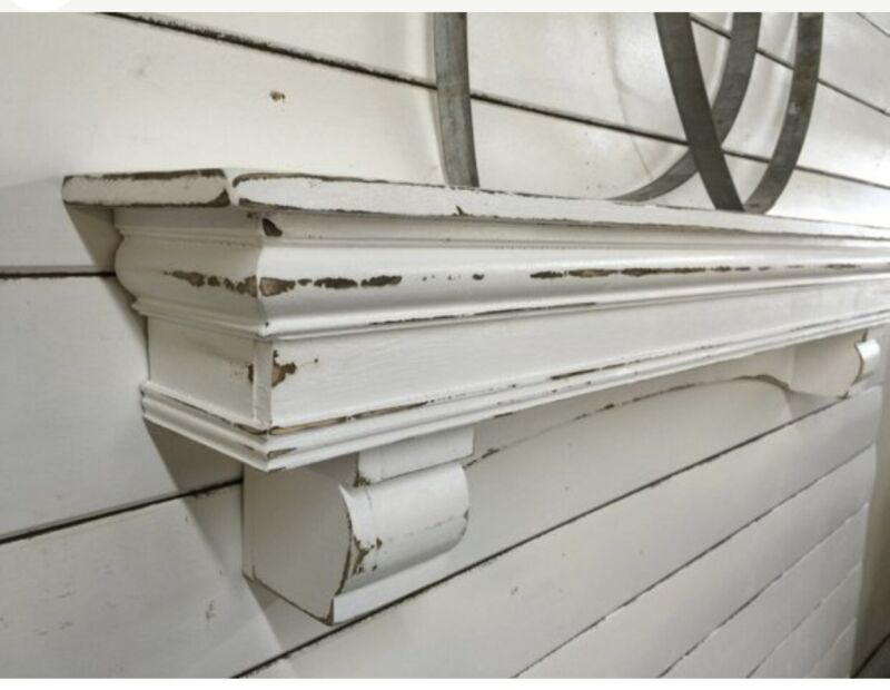 vintage style Arch Mantle With Corbels , 60 inches