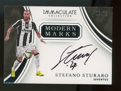 2017 Panini Immaculate Collection Modern Marks Stefano Sturaro 6/75 Auto