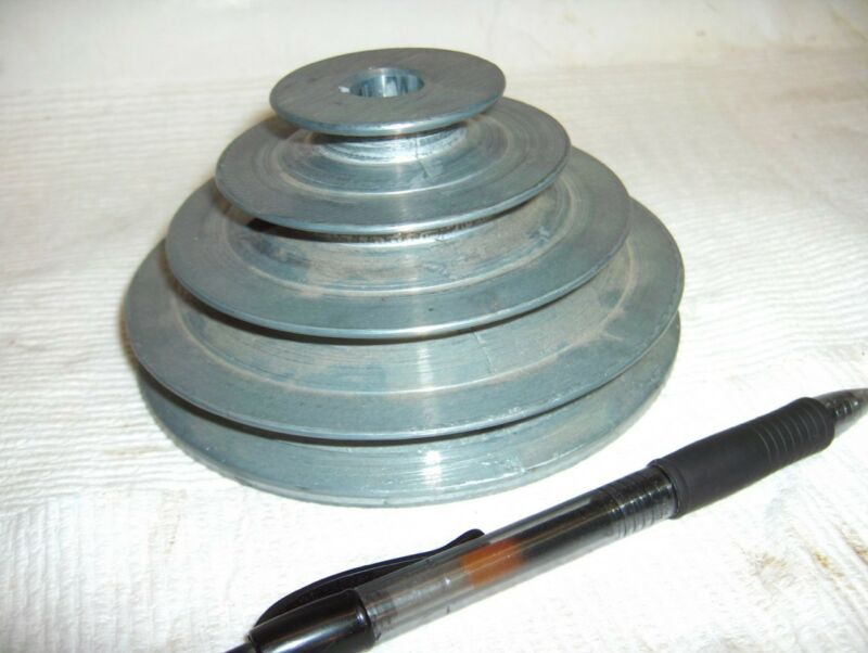 "4 Step V Belt Pulleys #147 4 Step 2"" 3"" 4"" 5"" od 1/2"" 5/8"" 3/4"" 1"" Bore"