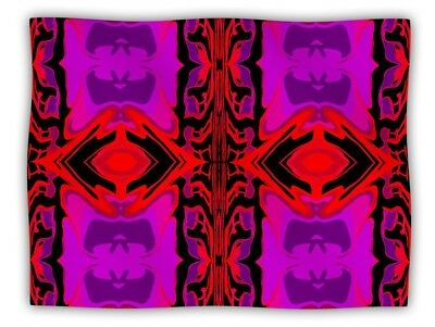 """Pet Blanket for You and/or Your Pet 60""""x50"""" VERY SOFT Throw Blanket Purple/Red"""
