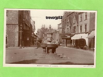 Market Cross St Albans  unused RP pc Lilywhite Ref A759