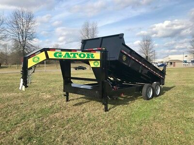 Dump Trailer--16ft-gooseneck--28000 Axles 17.5 Tires Gatormade Trailer