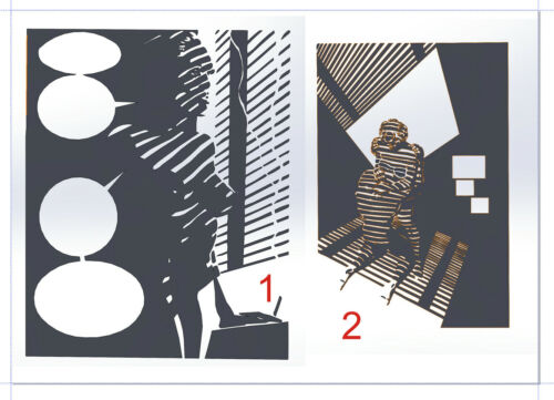5 DXF File CNC g-code Industrial Laser Cut COLLECTION DECORATIVE PANEL WALL ART